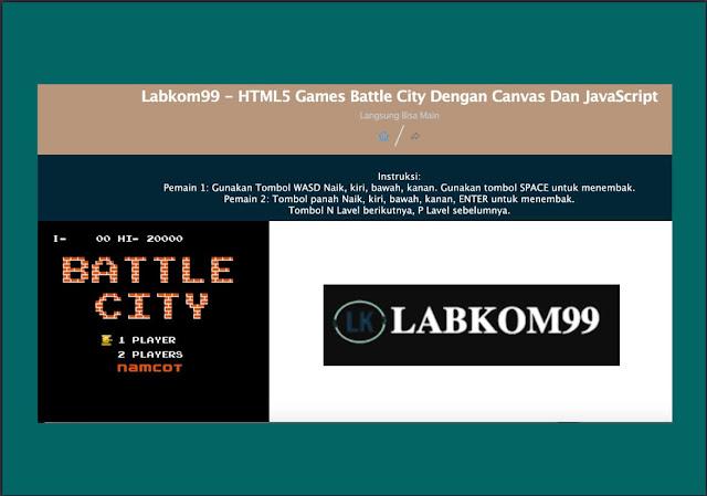 HTML5 Games Battle City Dengan Canvas Dan JavaScript Langsung Bisa Main