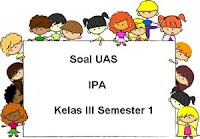 Soal UAS IPA Kelas 3 Semester 1 plus Kunci Jawaban