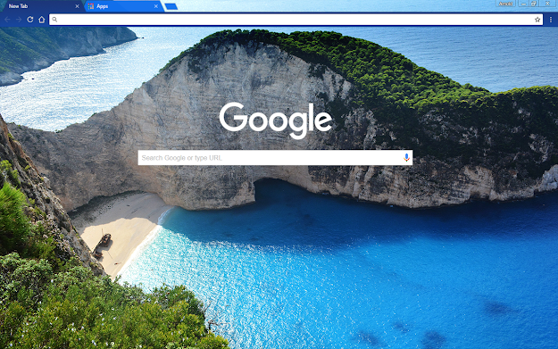Greek Beach Google Theme