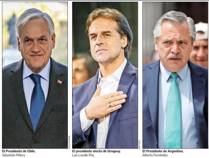 Piñera viajaría en marzo a cambio de mando en Uruguay y allí se reuniría con mandatario argentino