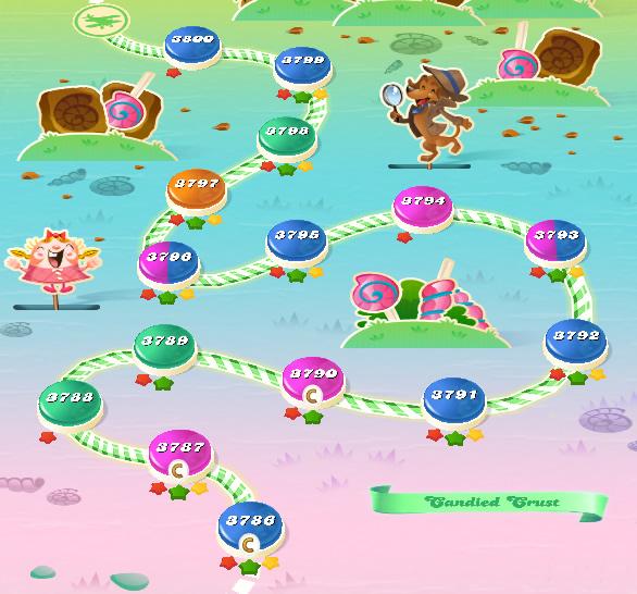 Candy Crush Saga level 3786-3800