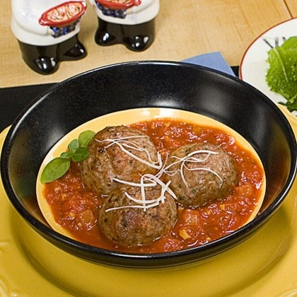 Oven Baked Meatballs with Quick Marinara Sauce