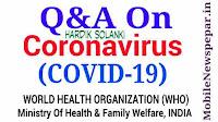 Q&A On Coronavirus (COVID-19)
