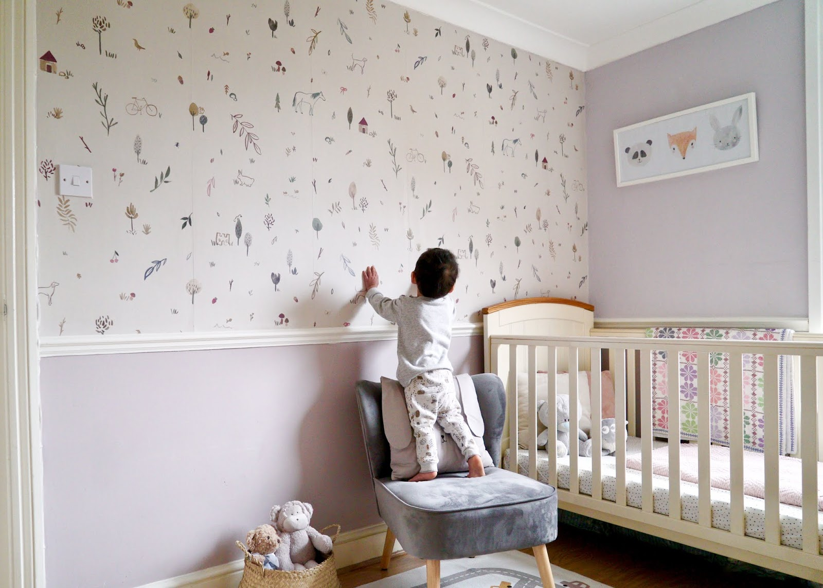 FEATURE WALL NURSERY MAKEOVER WITH PHOTOWALL