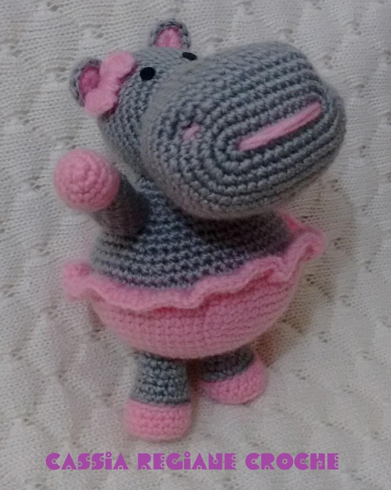 Amigurumi Amigurumi Patrón: El hipopótamo Melman y su amigo Pi ... | 1600x1278
