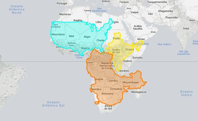 The True Size - Vê a verdadeira dimensão de países e continentes