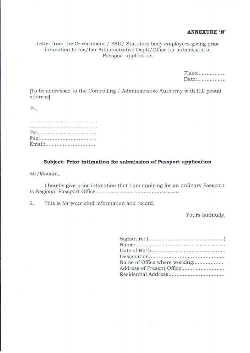 Doc7281032 Noc Format for Passport Doc7281032 Noc Format for – Format of Noc Letter