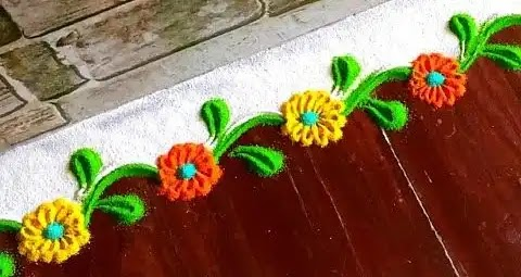 image of wall border rangoli you can use