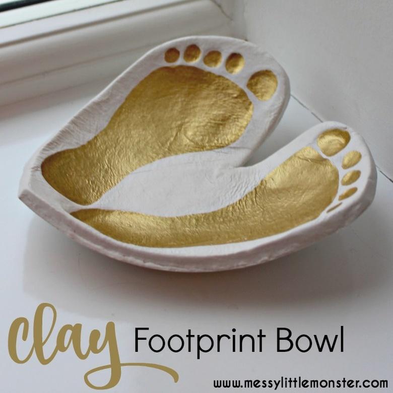 heart footprint craft
