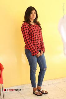 Actress Hebah Patel Stills in Blue Denim Jeans at Nanna Nenu Naa Boyfriends Movie Success Meet  0096.JPG