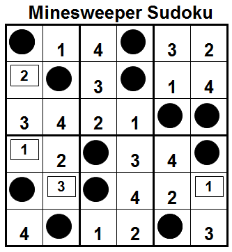Mini Minesweeper Sudoku (Fun With Sudoku #36) Solution