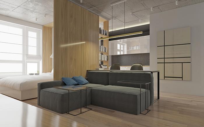 Thiết kế nội thất căn hộ chung cư nhỏ 42m2- 3