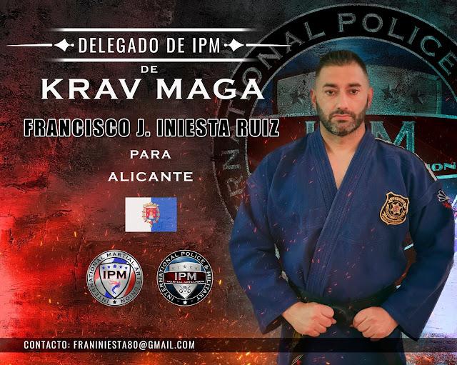 Nombramiento del entrenador D. Francisco J. Iniesta Ruiz como Delegado de KRAV MAGA de IPM, para Alicante