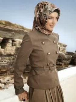 Contoh baju kerja muslimah yang moderen