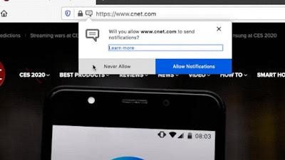 Chrome e Firefox enviam solicitações de notificação menos invasivas
