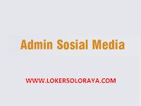 Lowongan Kerja Admin Sosial Media di Gumpang, Kartasura