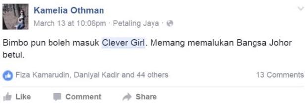 Tak Tahu Bendera Malaysia, Clever Girl Digelar 'Bimbo'