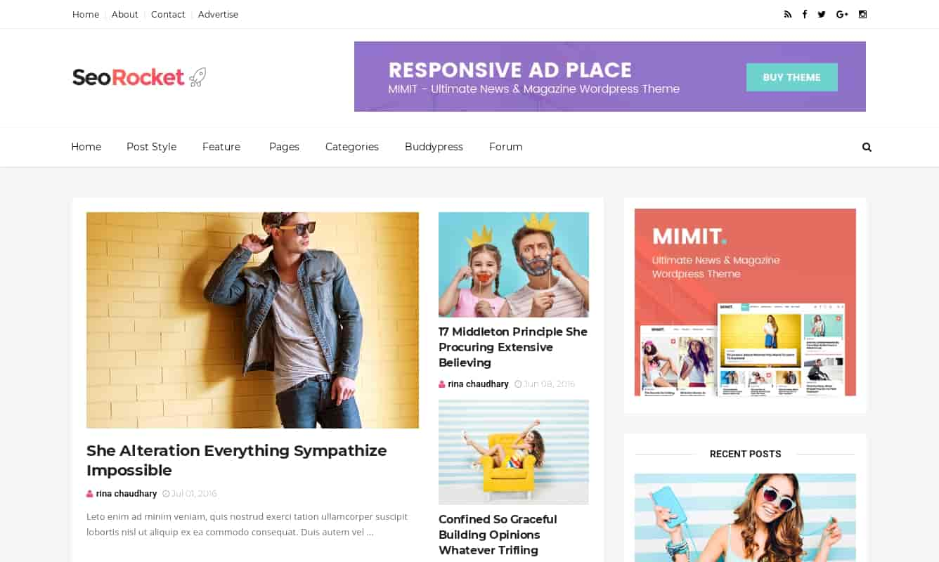 SEO Rocket Fast Blogger template, best fast blogger template for bloggers
