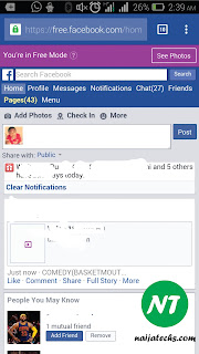 how to facebook for free on airtel