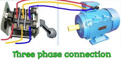 थ्री फेज मोटर कनेक्शन कैसे करें   3 phase motor connection in Hindi