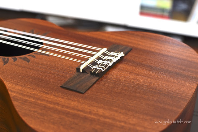 Baton Rouge V2T8 Sun 8 String Tenor ukulele bridge