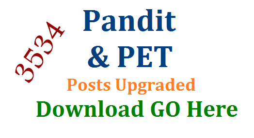 3534 Pandit and PET Posts Upgraded in Telangana | Telugu Pandit Hindi Pandit Urdu Pandit Posts to up graded in Telangana Schools | PET Physical Education Teacher Posts to up Graded as Physical Director PD Posts in Telangana Schools | Telangana Cabinate has approved Pandit PET Up Gradation File 3534-pandit-and-pet-posts-upgraded-in-telangana-download-go-here