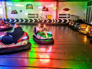Top Ender and Dan Jon in a Bumper Car