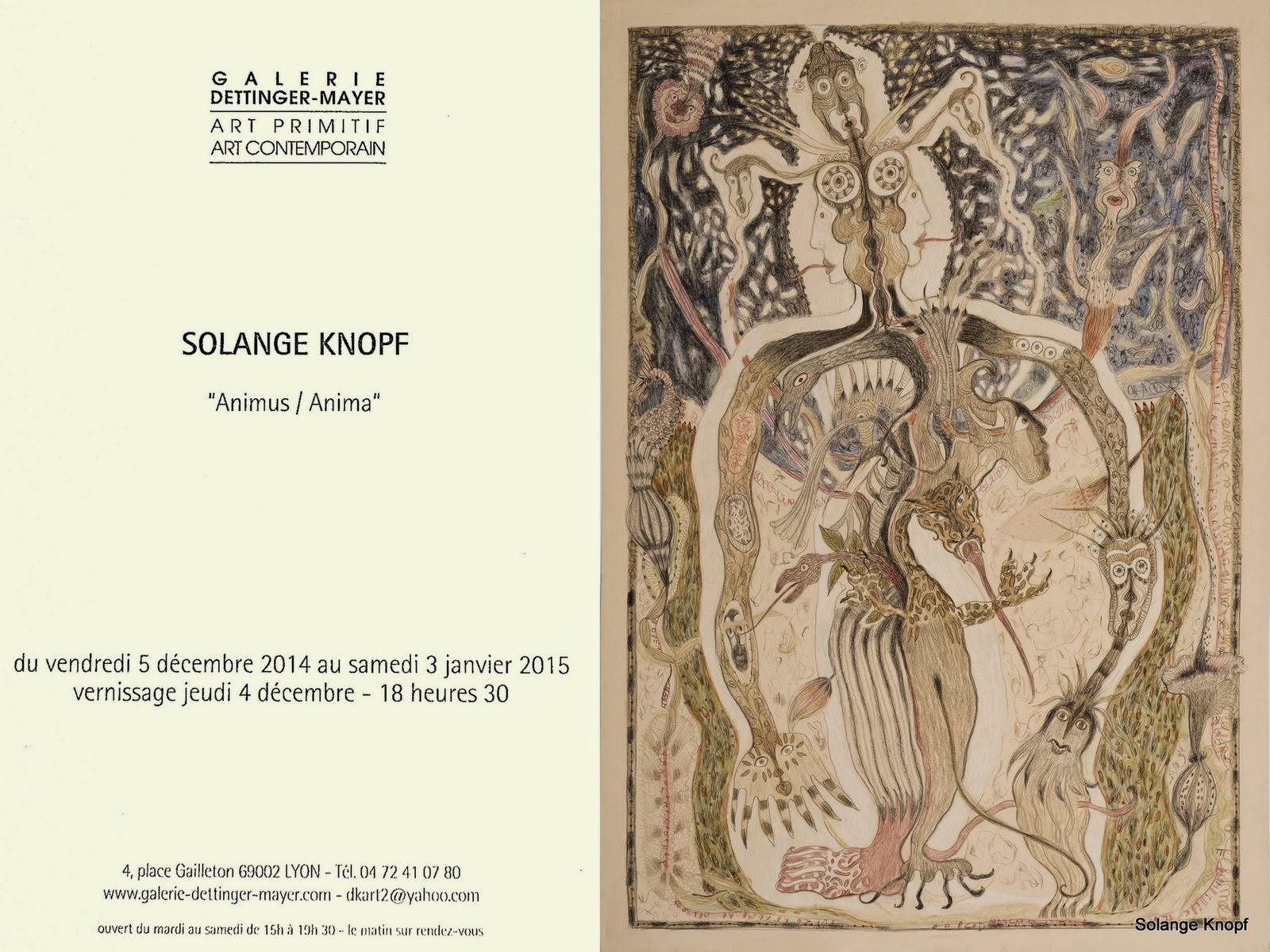"#Solange Knopf # Exposition ""Animius / Anima "" Galerie Alain Dettinger - Lyon - France"