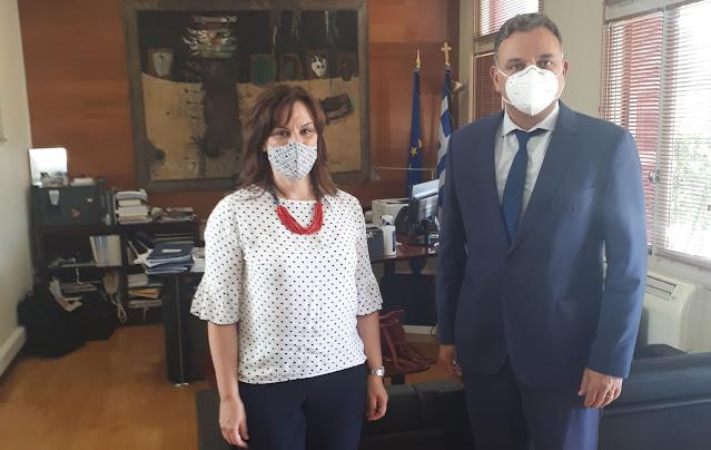 Συνάντηση της Ελένης Παναγιωτοπούλου με τον Γ.Γ. του Υπουργείου Πολιτισμού