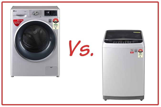 LG FHT1408ZWL (left) and LG T80SJSF1Z (right) Washing Machines.