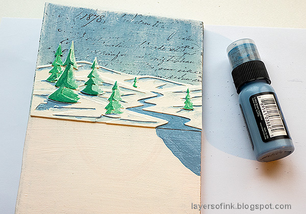 Layers of ink - December Daily Peaceful Winter Tutorial by Anna-Karin Evaldsson.