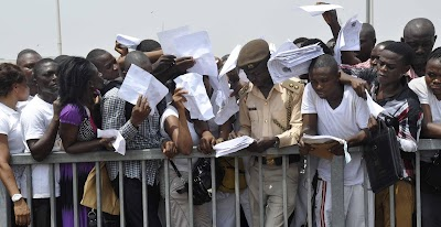 Unemployment rate in Nigeria rises by 3 million in nine months