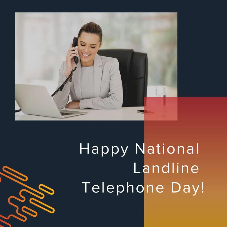 National Landline Telephone Day Wishes Beautiful Image