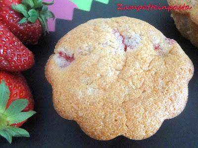 Muffin di fragole e albumi - Muffin con albumi