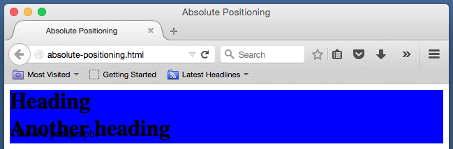 html position absolute