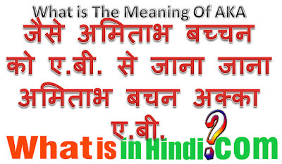 What is the meaning of akka in Hindi