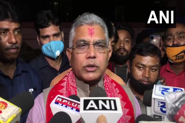 Dilip Ghosh Greeted with Black Flags at Alipurduar by Gorkha Faction, Stones Hurled at His Convoy