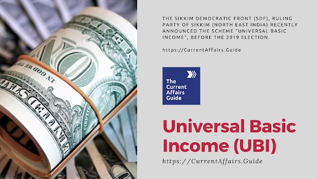Universal Basic Income UBI