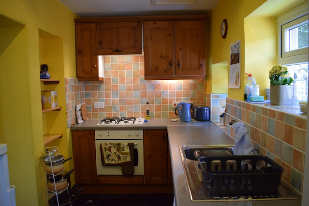 My first Air BnB Experience at Simonside Cottage in Rothbury kitchen
