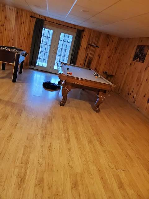 Game room in Getaway Cabins Whispering Woods #25 cabin in the Hocking Hills