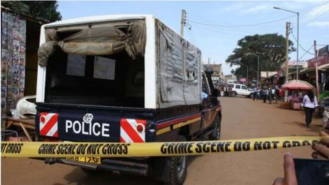 Police in Karatina tracking a law court official for murder. PHOTO | K24