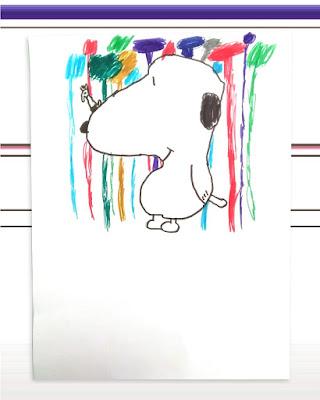 snoopy art - disegnare e colorare senza copiare
