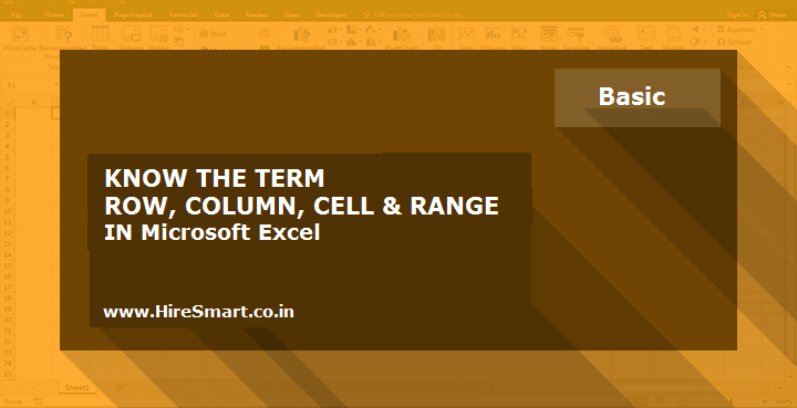 Understanding Cell And Range & Differences In Rows And Columns (Row And Column) In Excel