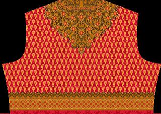 Traditional Print Lehenga Choli Design - Top Back 2744