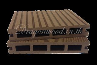 ไม้เทียม ปูพื้นแบบกลวง สีน้ำตาล ลายร่อง+ลายไม้ กว้าง 10cm,13.5cm,14.6cm x หนา 2.5cm x ยาว 220cm,240cm,300cm