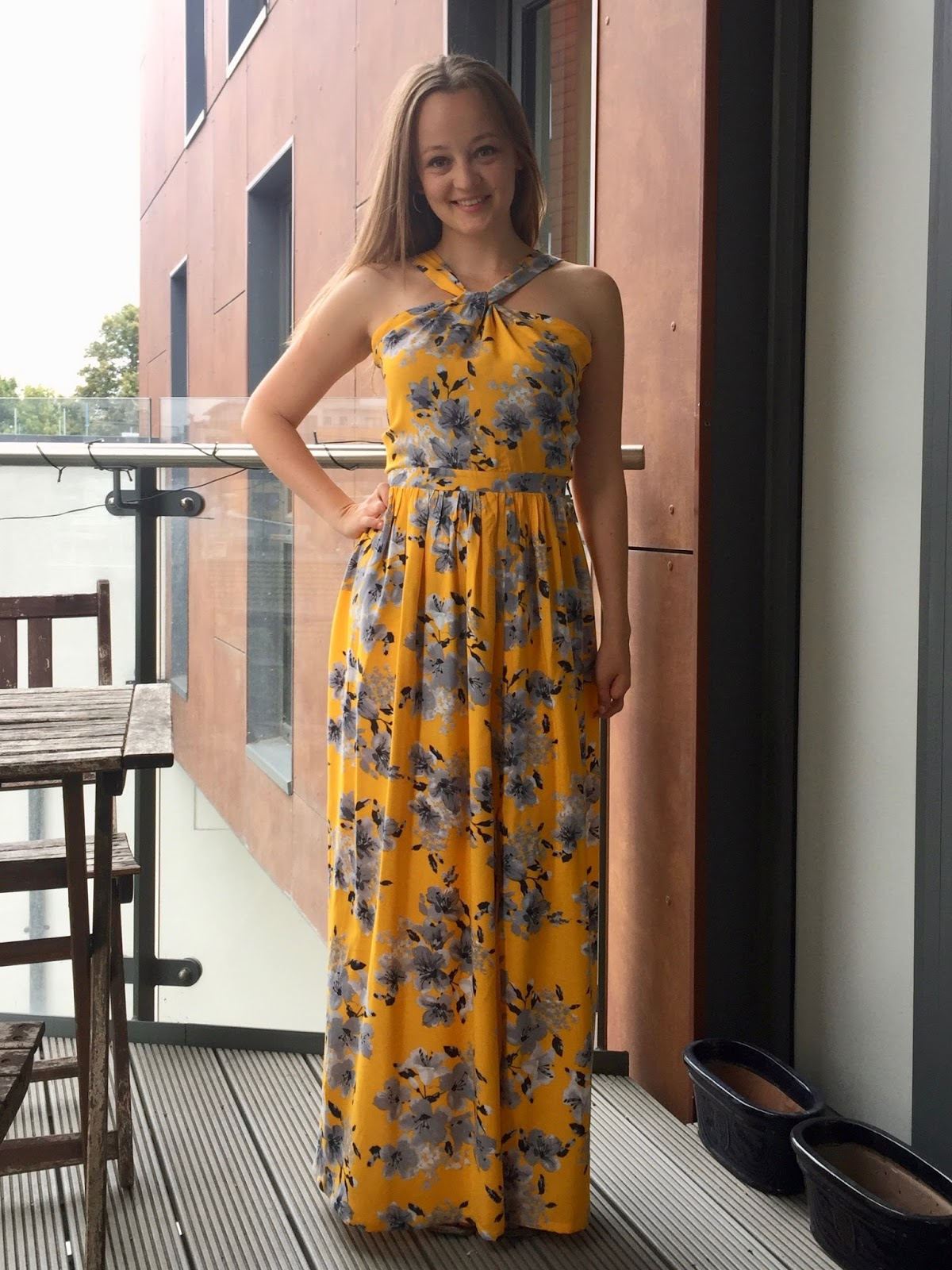 61c4e932f8fa Diary of a Chain Stitcher: Yellow Floral Viscose Lonsdale Maxi Dress
