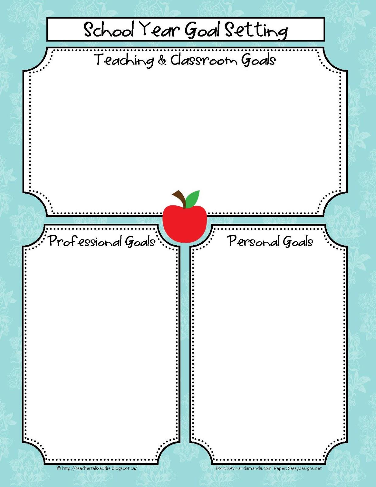 Back To School Teaching Goals