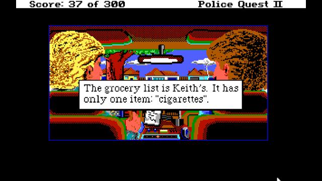 Screenshot from Police Quest II