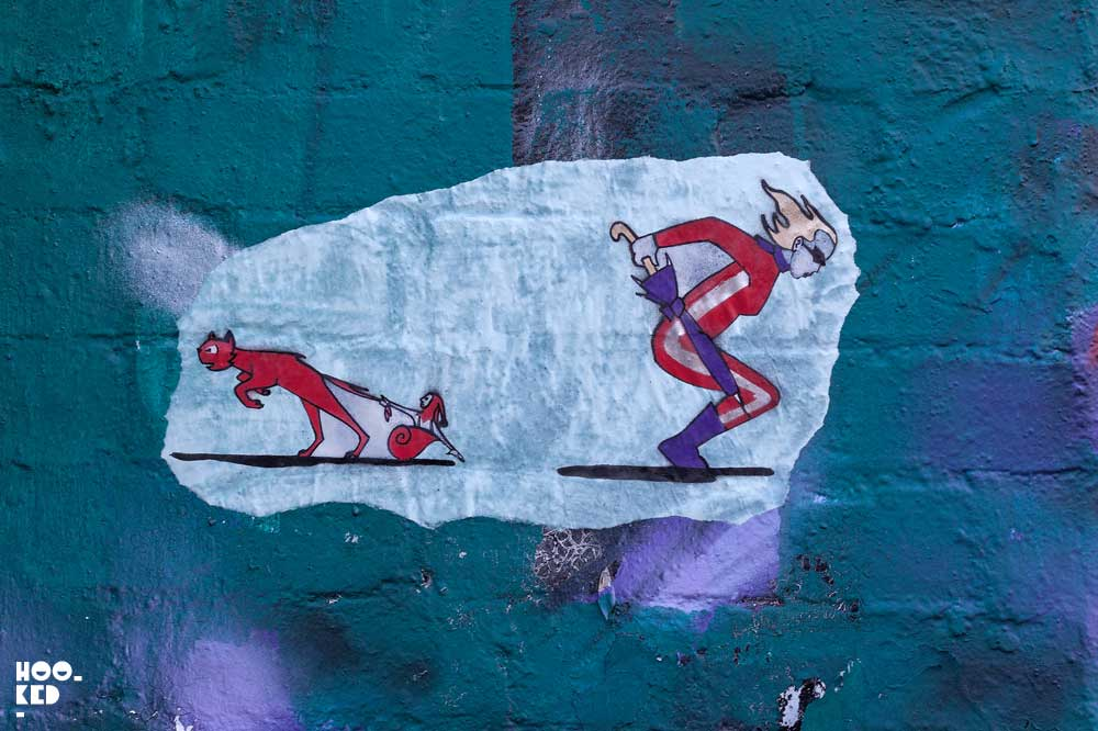 Animated Street Art Cats by London Street artist DrCream