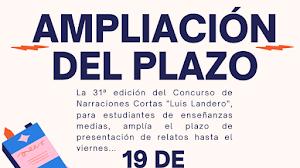 """Ampliación del plazo de presentación de relatos del concurso """"Luis Landero"""""""